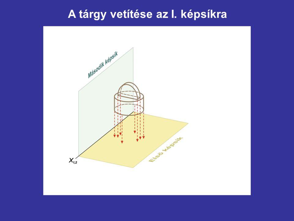 Az x 1,4 tengely meghúzása e'-vel párhuzamosan