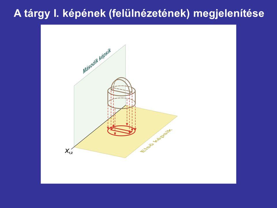 Az x 4,5 tengely felvétele (célszerűen, tetszőlegesen)