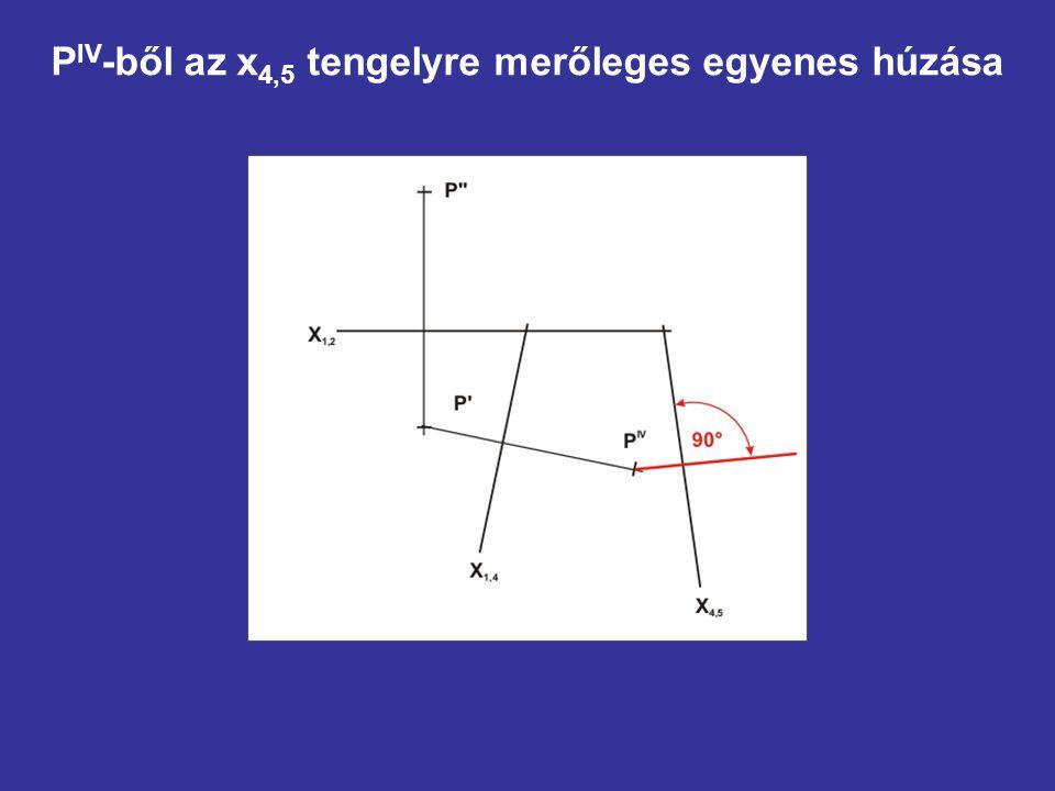 P IV -ből az x 4,5 tengelyre merőleges egyenes húzása