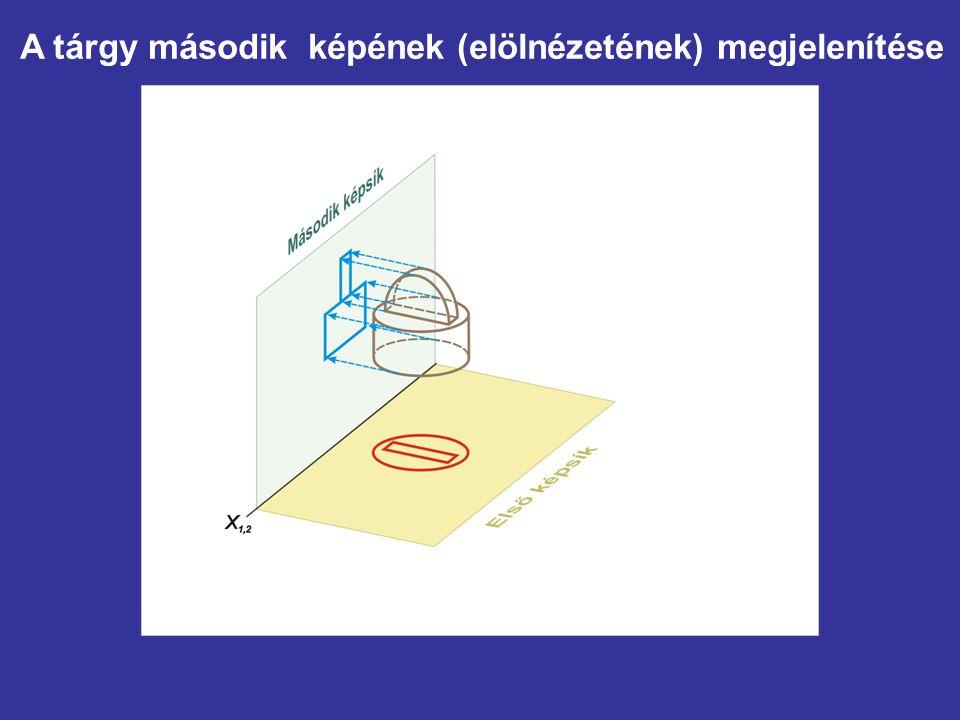 A tárgy második képének (elölnézetének) megjelenítése