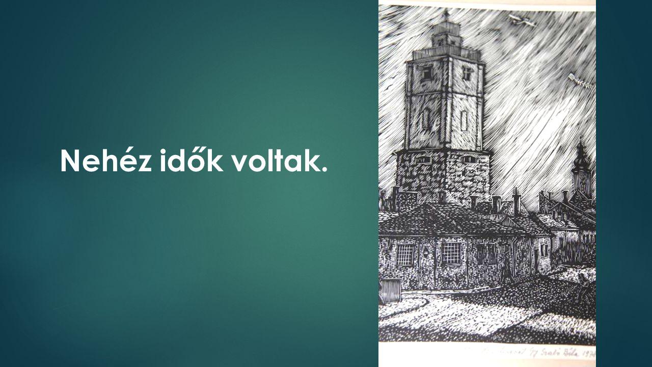 A régi Kolozsvár. Már rég kiürült. Váltotta itt egymást sok parókanép.