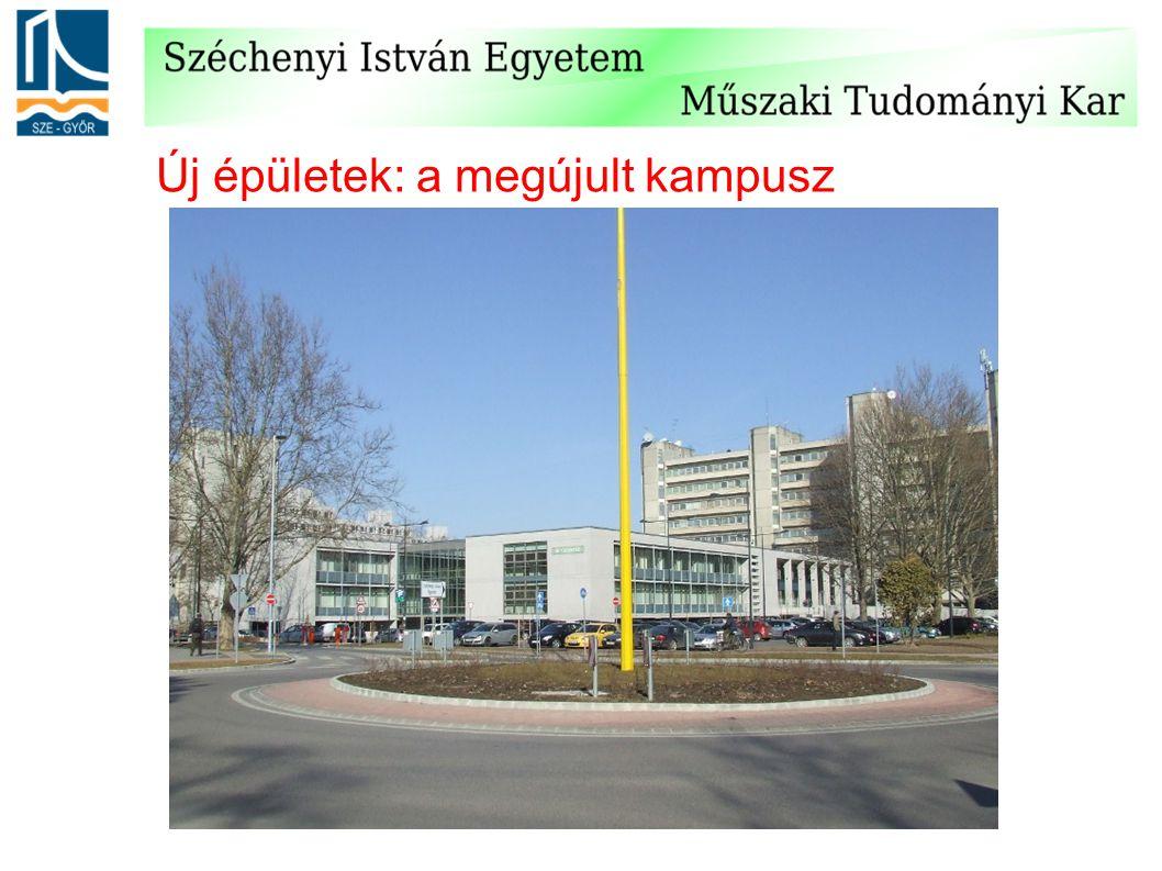 Új épületek: a megújult kampusz