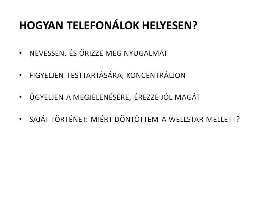 HOGYAN TELEFONÁLOK HELYESEN? NEVESSEN, ÉS ŐRIZZE MEG NYUGALMÁT FIGYELJEN TESTTARTÁSÁRA, KONCENTRÁLJON ÜGYELJEN A MEGJELENÉSÉRE, ÉREZZE JÓL MAGÁT SAJÁT
