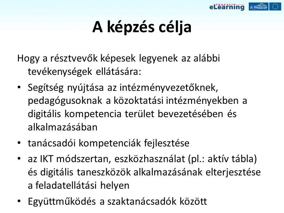 A képzés moduljai, munkamódszerei I.1.