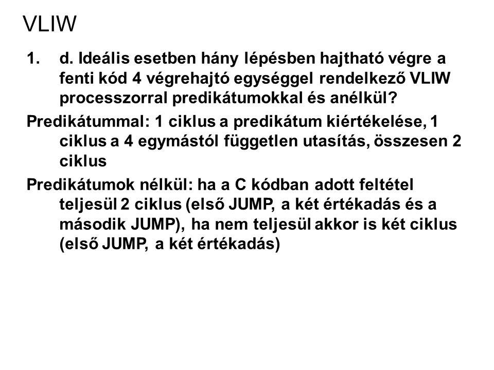 VLIW 1.d.