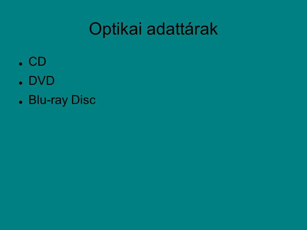 Optikai adattárak CD DVD Blu-ray Disc