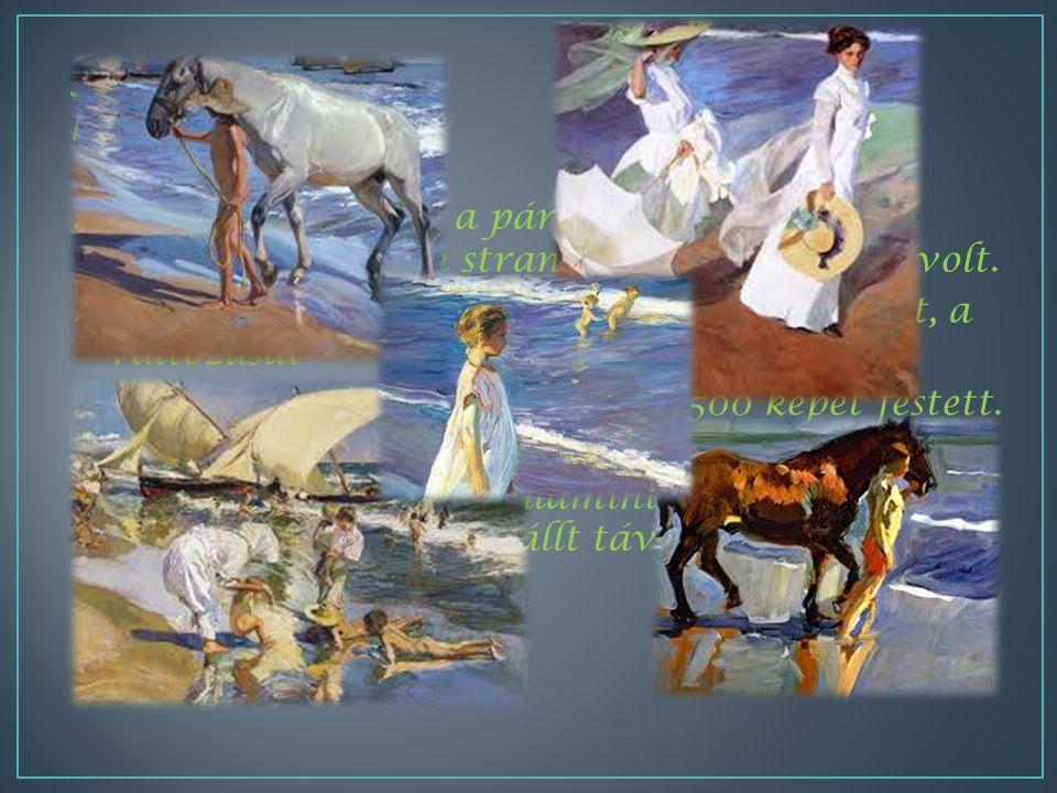 MMiután megnyeri a párizsi kiállítást, képei témája a tenger, a strandok és a természet volt.