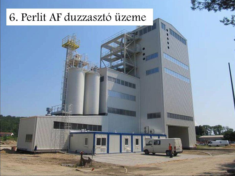 6. Perlit AF duzzasztó üzeme