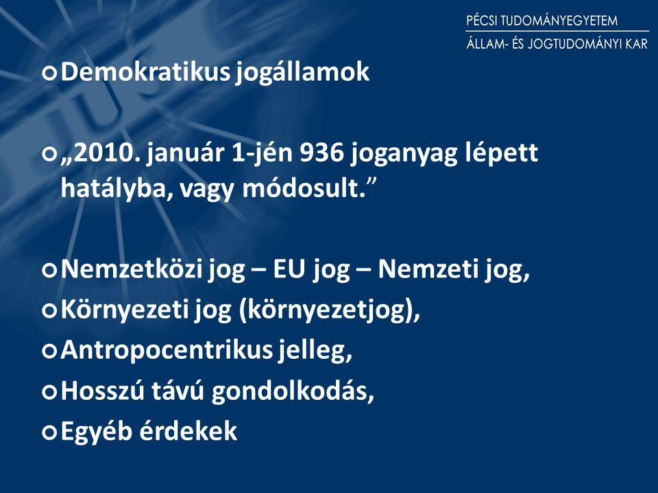 """Demokratikus jogállamok """"2010."""