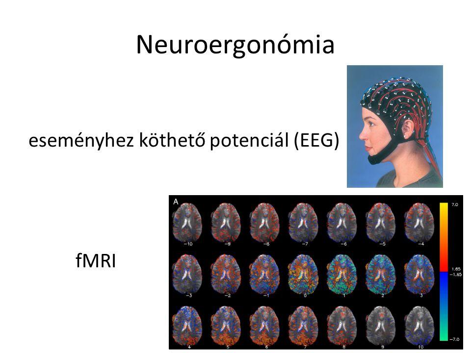 Neuroergonómia eseményhez köthető potenciál (EEG) fMRI