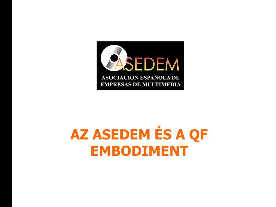 2 Spanyol Multimédia Szövetség Célja:  A multimédiával és az új technológiákkal kapcsolatos képzés és ismeretterjesztés  A multimédia mint új szektor érdekvédelme Eszközök:  Szakmai találkozók szervezése  Statisztikák, tanulmányok összeállítása  Tanfolyam-akkreditáció, bizonyítványok kiadása  Részvétel EU-s és UNESCO projektekben AZ ASEDEM
