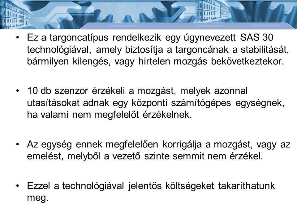 Ez a targoncatípus rendelkezik egy úgynevezett SAS 30 technológiával, amely biztosítja a targoncának a stabilitását, bármilyen kilengés, vagy hirtelen