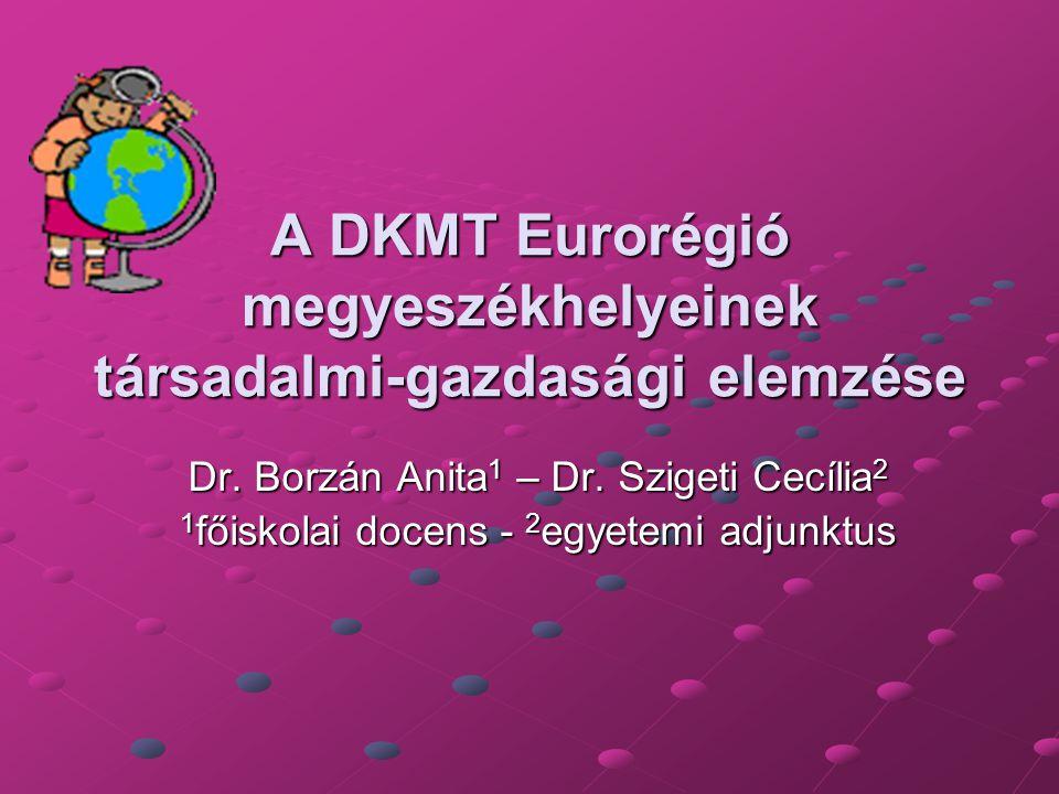 A DKMT Eurorégió megyeszékhelyeinek társadalmi-gazdasági elemzése Dr.