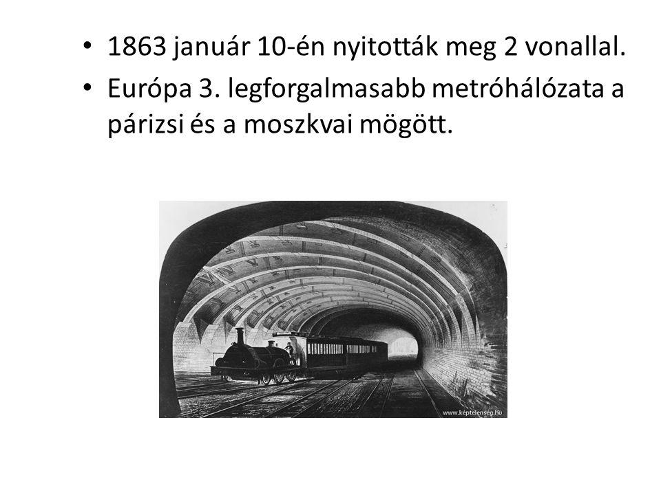1863 január 10-én nyitották meg 2 vonallal. Európa 3.