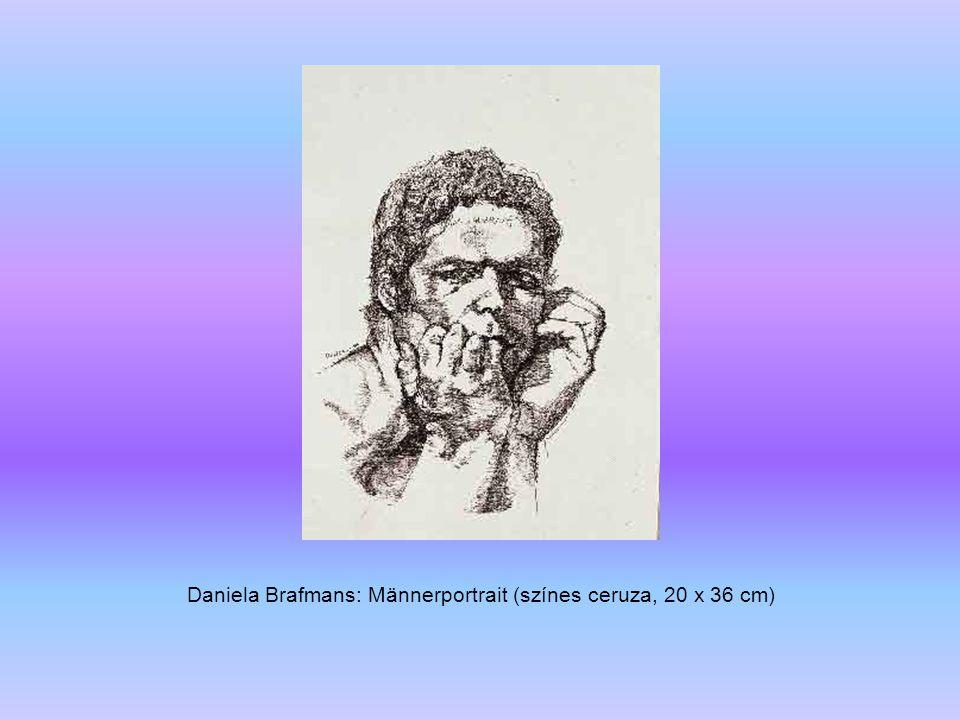 Daniela Brafmans: Männerportrait (színes ceruza, 20 x 36 cm)