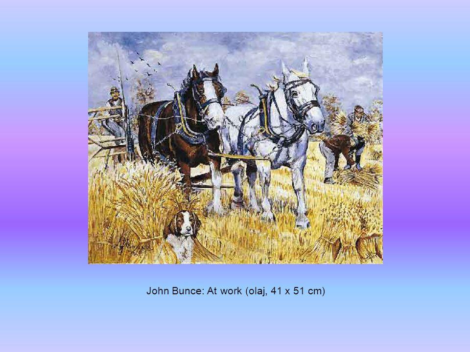 John Bunce: At work (olaj, 41 x 51 cm)