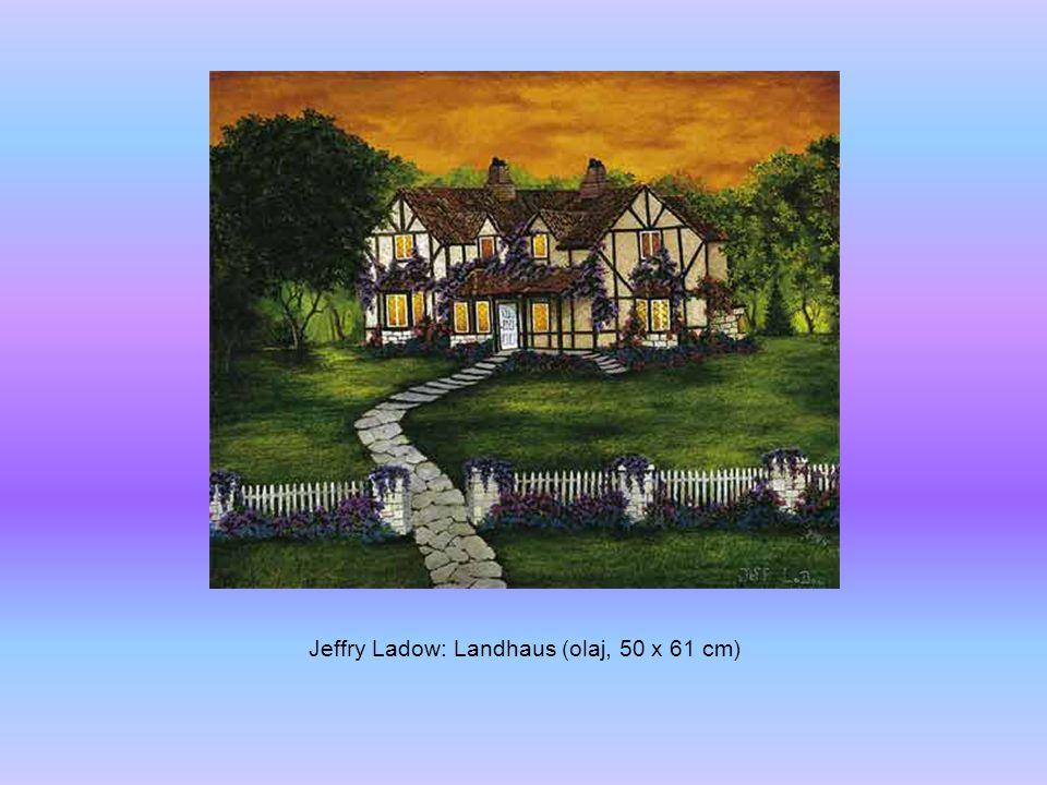 Jeffry Ladow: Hafeneinfahrt (olaj, 45 x 61 cm)