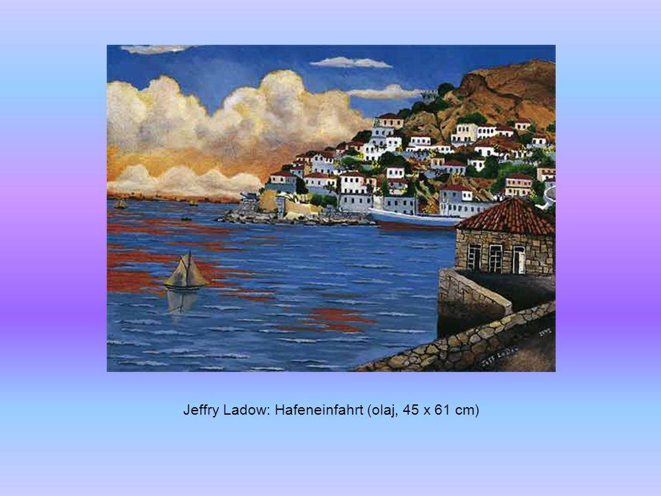 Jeffry Ladow: Winter (olaj, 36 x 46 cm)