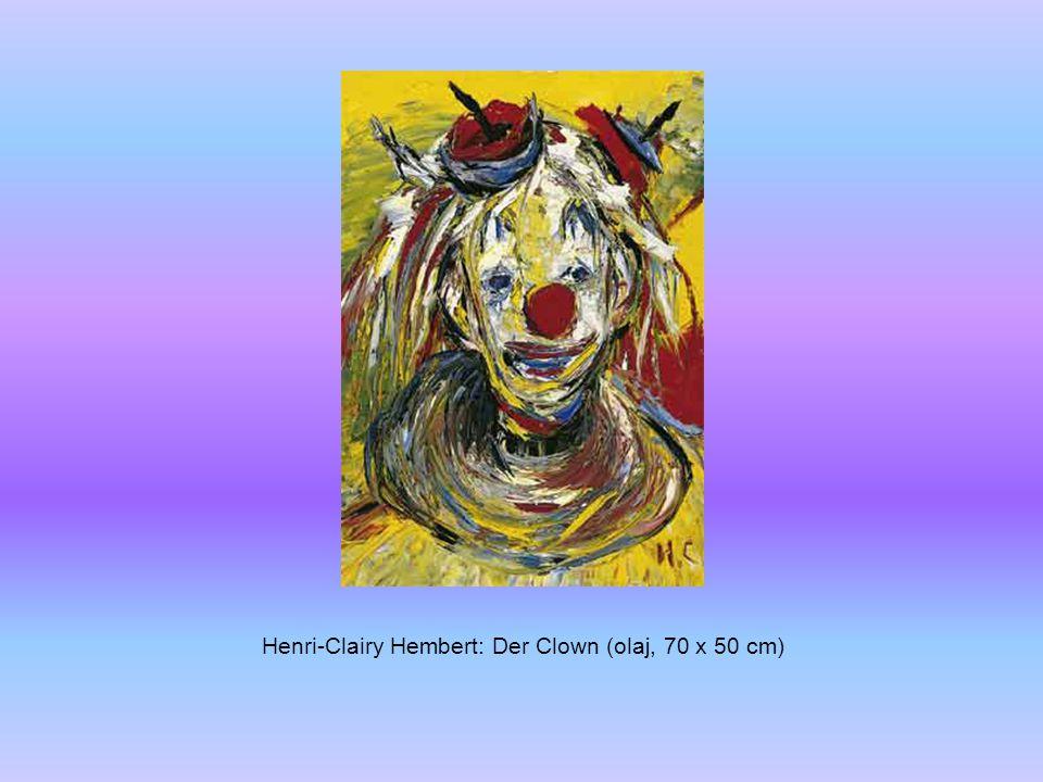 Henri-Clairy Hembert: Der Clown (olaj, 70 x 50 cm)