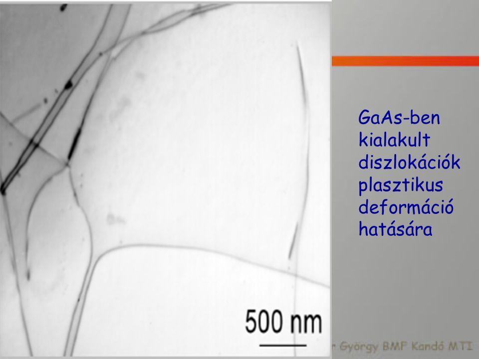 GaAs-ben kialakult diszlokációk plasztikus deformáció hatására