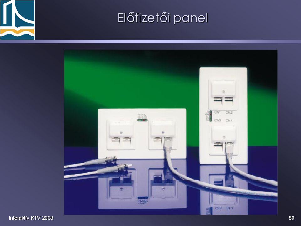 80Interaktív KTV 2008 Előfizetői panel