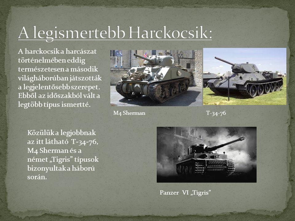 A harckocsik a harcászat történelmében eddig természetesen a második világháborúban játszották a legjelentősebb szerepet.