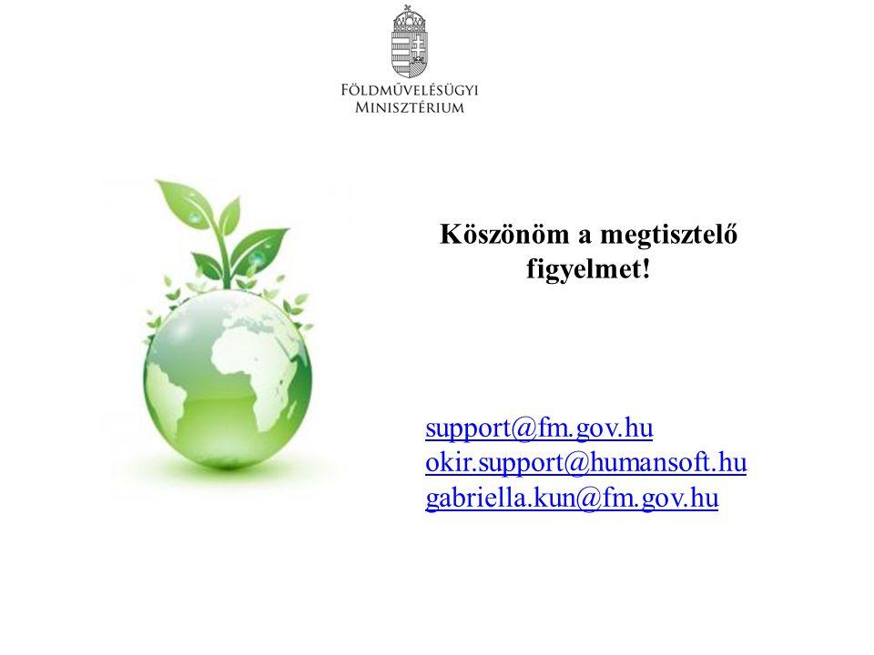 Köszönöm a megtisztelő figyelmet! support@fm.gov.hu okir.support@humansoft.hu gabriella.kun@fm.gov.husupport@humansoft.hu gabriella.kun@fm.gov.hu