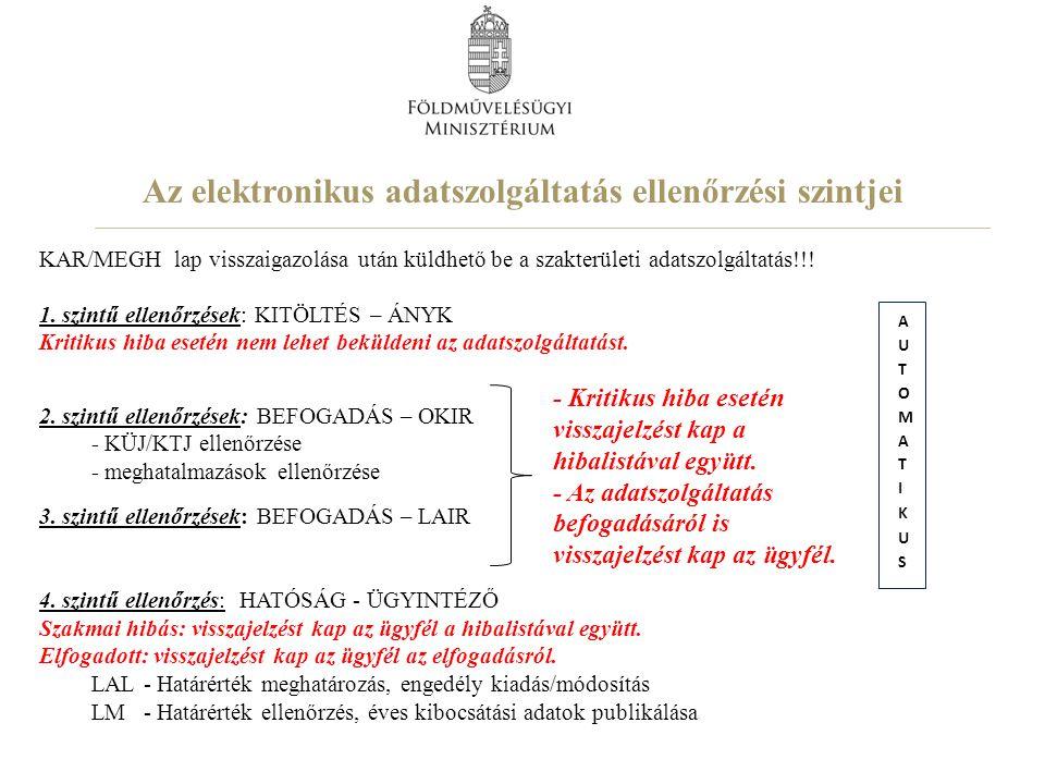 A levegőtisztaság-védelmi adatszolgáltatás adatlapjai A LAL adatlap csomag 1.