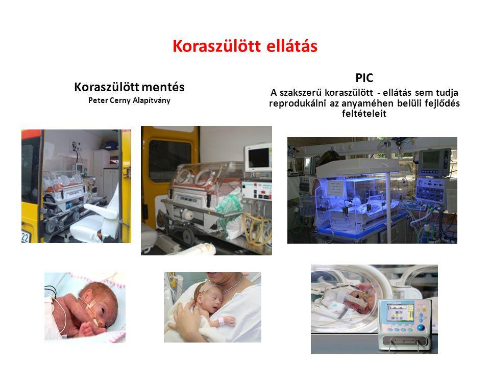 Koraszülött ellátás Koraszülött mentés Peter Cerny Alapítvány PIC A szakszerű koraszülött - ellátás sem tudja reprodukálni az anyaméhen belüli fejlődés feltételeit
