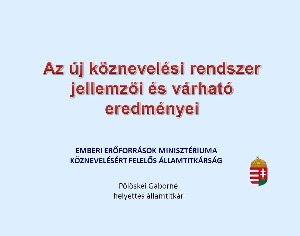 EMBERI ERŐFORRÁSOK MINISZTÉRIUMA KÖZNEVELÉSÉRT FELELŐS ÁLLAMTITKÁRSÁG Pölöskei Gáborné helyettes államtitkár