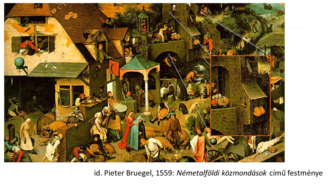 Széchenyi István Egyetem id. Pieter Bruegel, 1559: Németalföldi közmondások című festménye