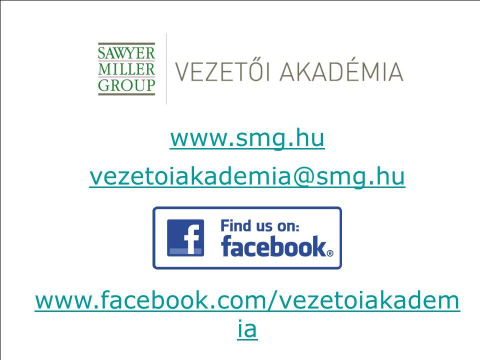 www.smg.hu vezetoiakademia@smg.hu www.facebook.com/vezetoiakadem ia