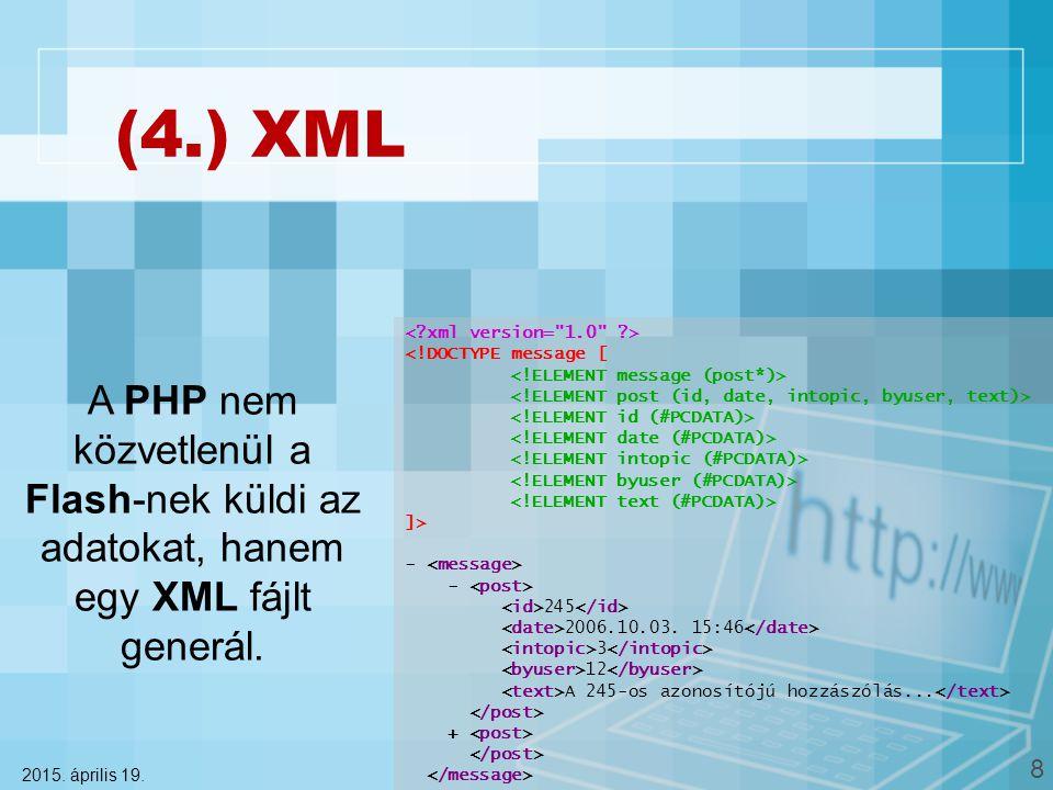 (4.) XML 2015. április 19.