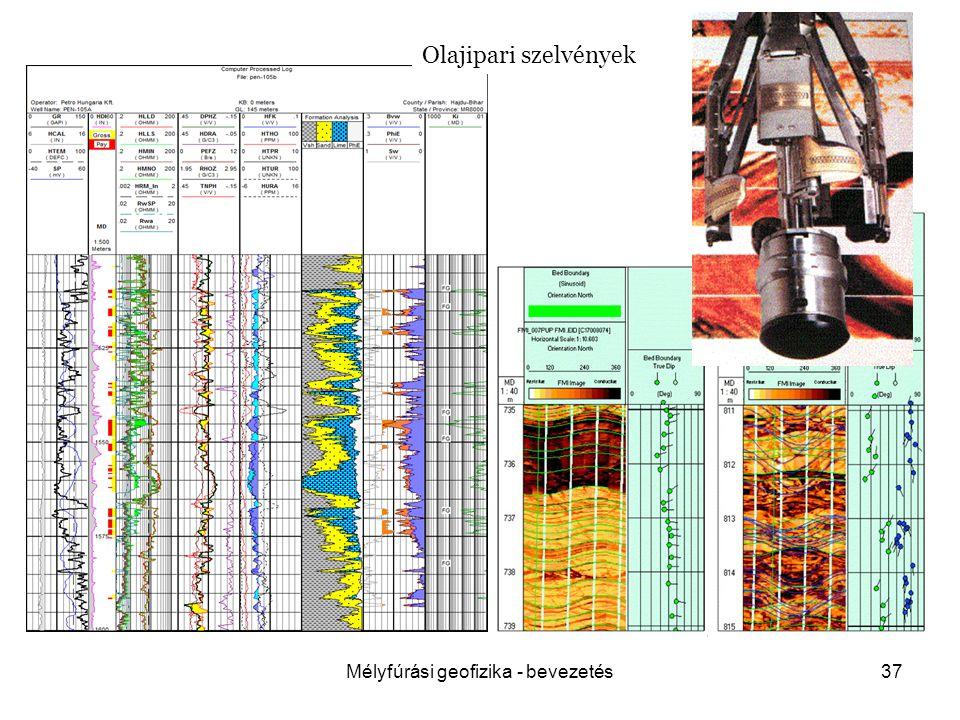 Mélyfúrási geofizika - bevezetés37 Olajipari szelvények