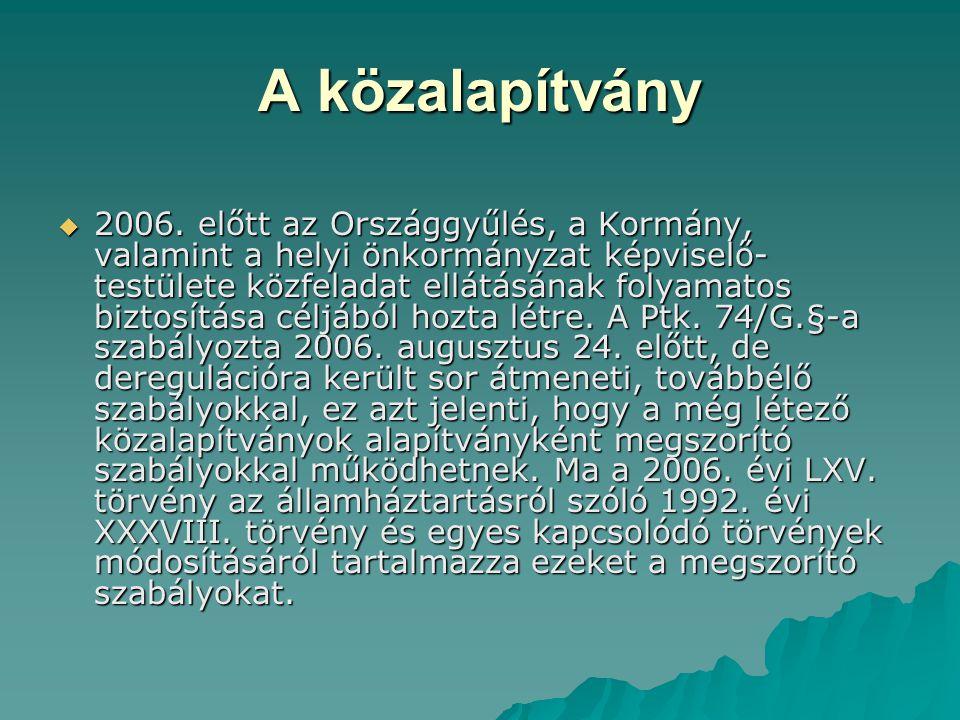 A közalapítvány  2006.