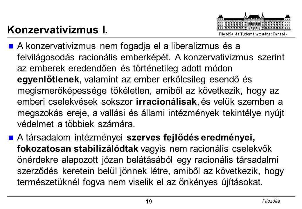 19 Filozófia Konzervativizmus I.