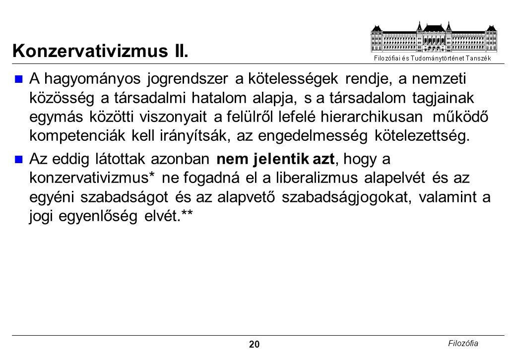 21 Filozófia Konzervativizmus III.