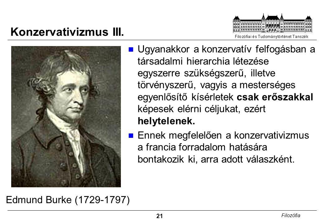 22 Filozófia Konzervativizmus IV.