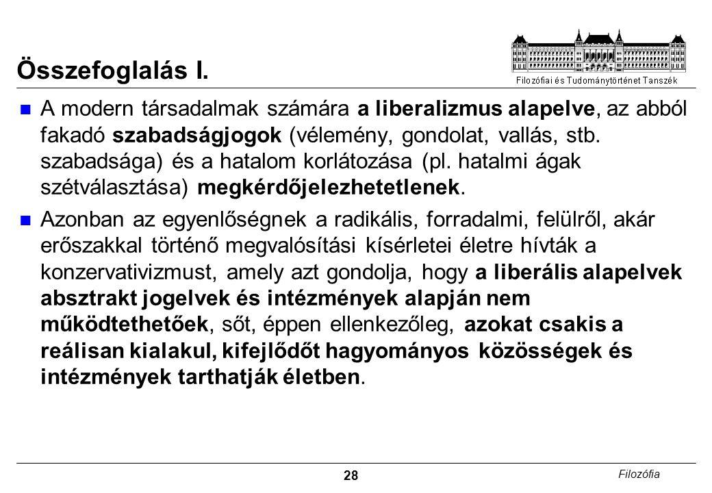 28 Filozófia Összefoglalás I.