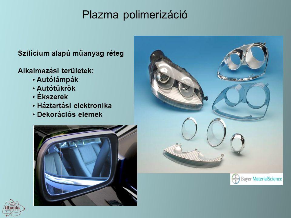 Plazma polimerizáció Szilícium alapú műanyag réteg Alkalmazási területek: Autólámpák Autótükrök Ékszerek Háztartási elektronika Dekorációs elemek