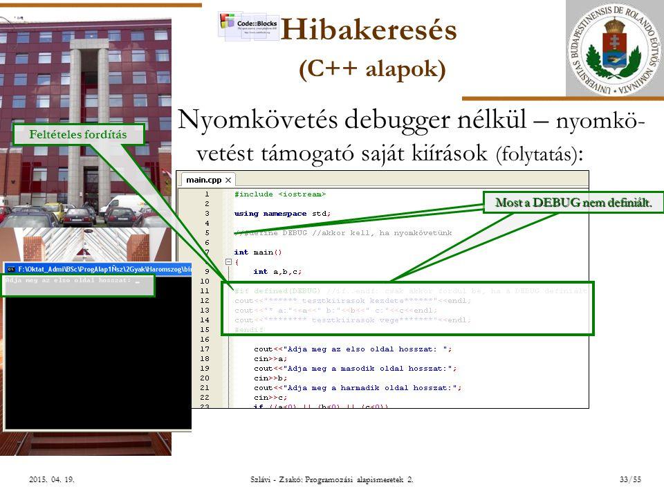 ELTE Szlávi - Zsakó: Programozási alapismeretek 2.33/552015.