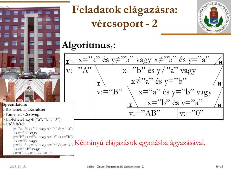 ELTE Szlávi - Zsakó: Programozási alapismeretek 2.39/552015.