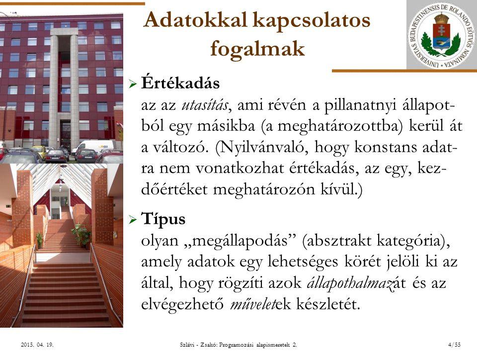 ELTE Szlávi - Zsakó: Programozási alapismeretek 2.45/552015.