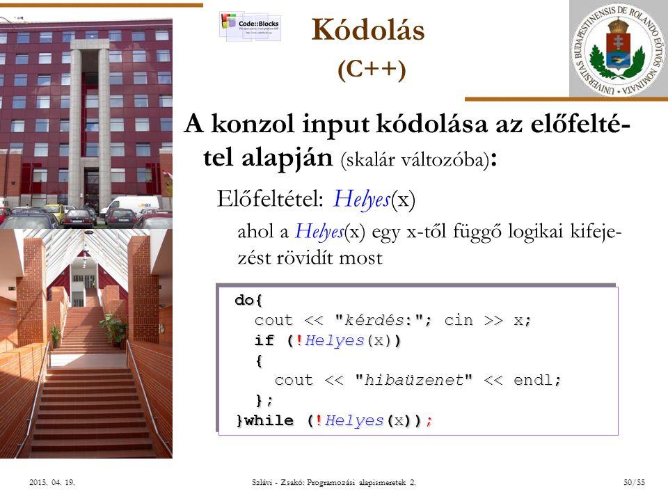 ELTE Szlávi - Zsakó: Programozási alapismeretek 2.50/552015.