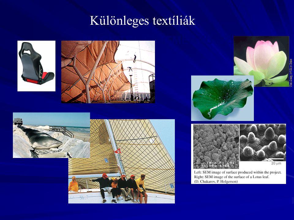 NAGY TELJESÍTMÉNYŰ SZÁLAK Különleges textíliák