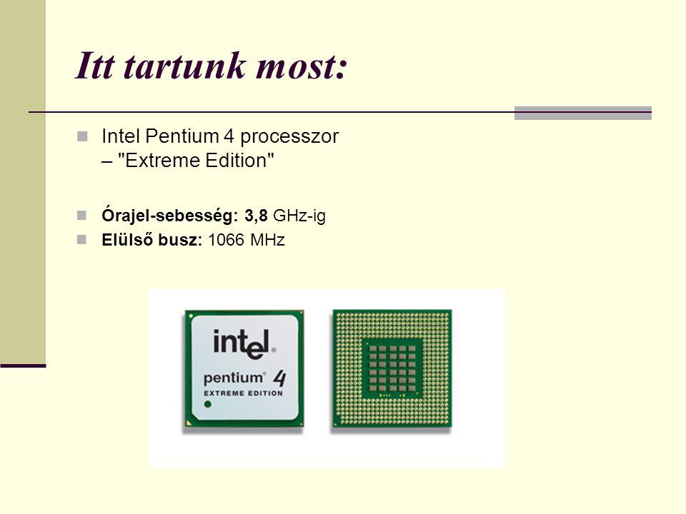 Itt tartunk most: Intel Pentium 4 processzor –