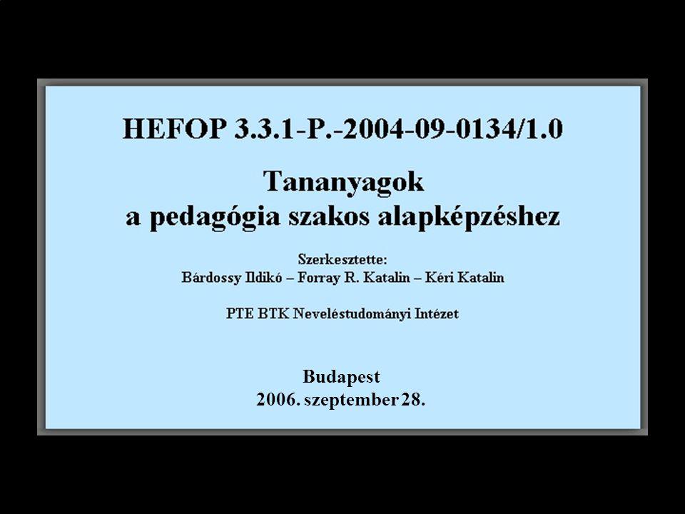 Budapest 2006. szeptember 28.