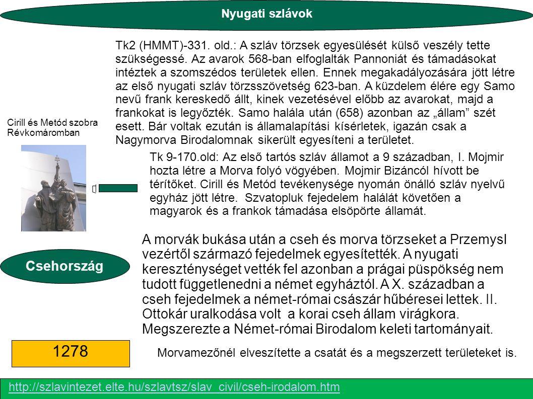 Tk 9-170.old: Az első tartós szláv államot a 9 században, I.