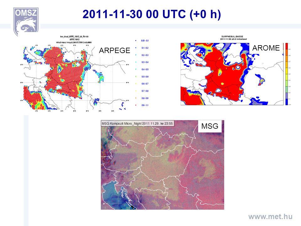 www.met.hu 2011-11-30 00 UTC (+0 h) ARPEGE AROME MSG