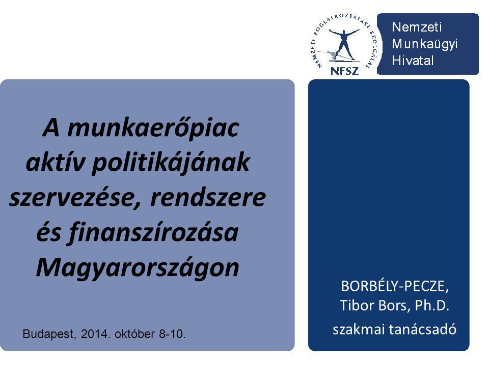 A munkaerőpiac aktív politikájának szervezése, rendszere és finanszírozása Magyarországon BORBÉLY-PECZE, Tibor Bors, Ph.D.
